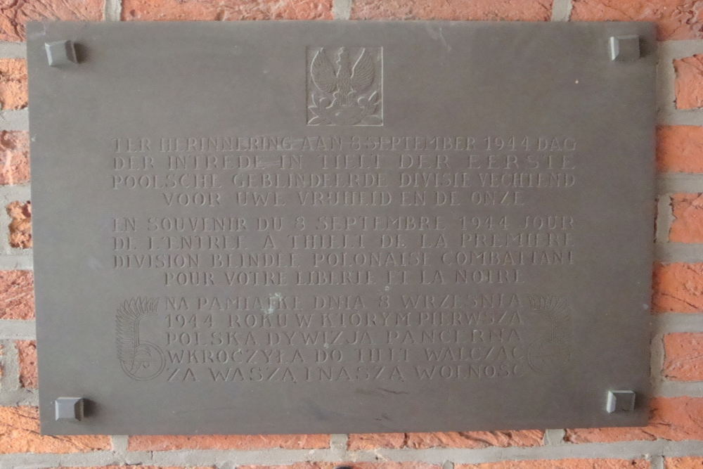 Commemorative Plate 1st Polish Armoured Division