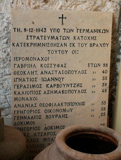 Memorial Executed Greeks Kalavryta