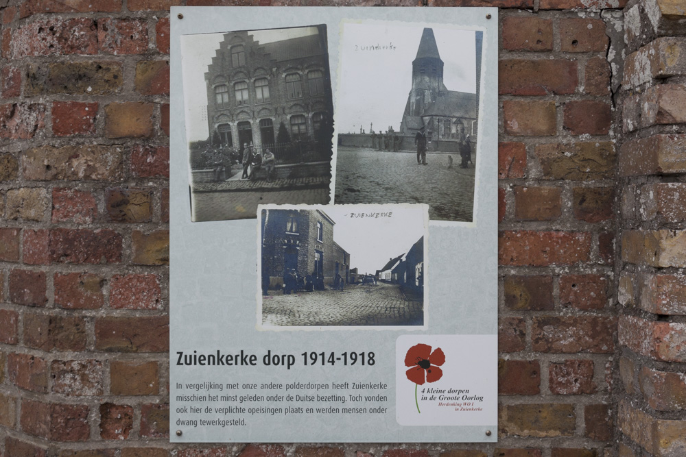 Plaque World War One Zuienkerke