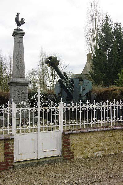 Duitse 10.5 cm leFH 18 Kanon Habloville