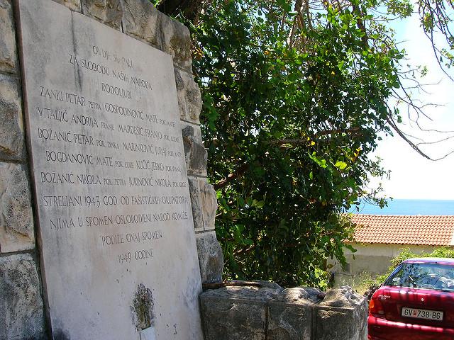Monument Tweede Wereldoorlog Komiža