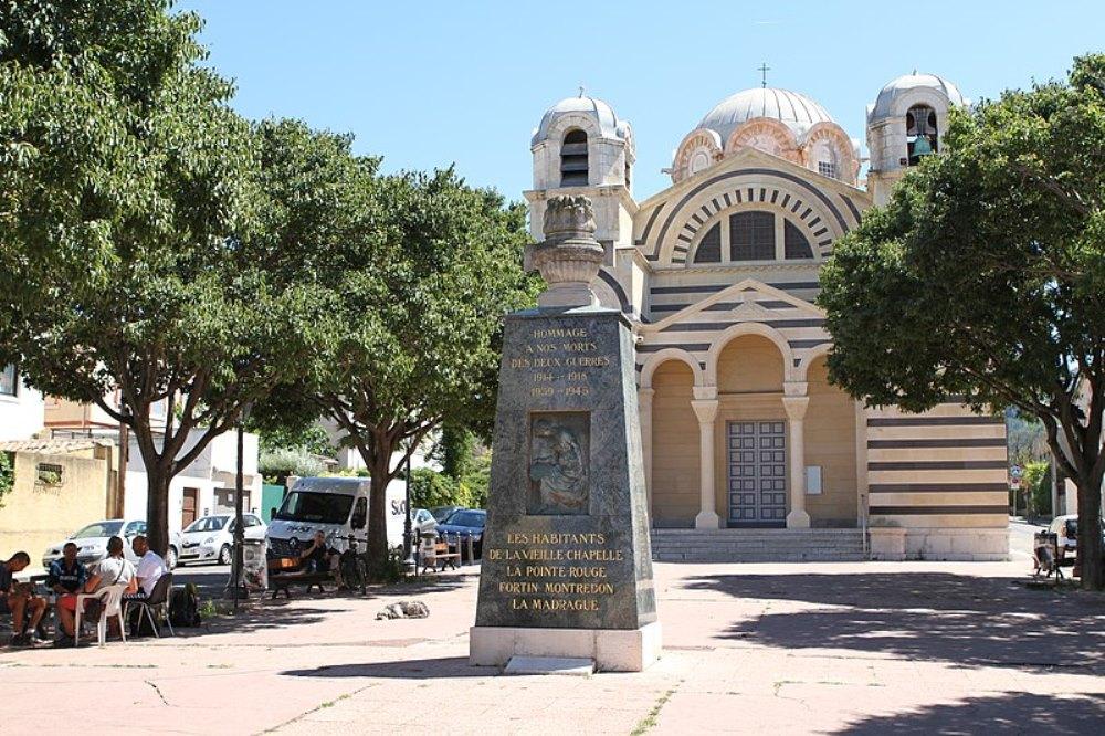 War Memorial La Vieille-Chapelle, La Ponte-Rouge, Fortin Montredon and La Madrague