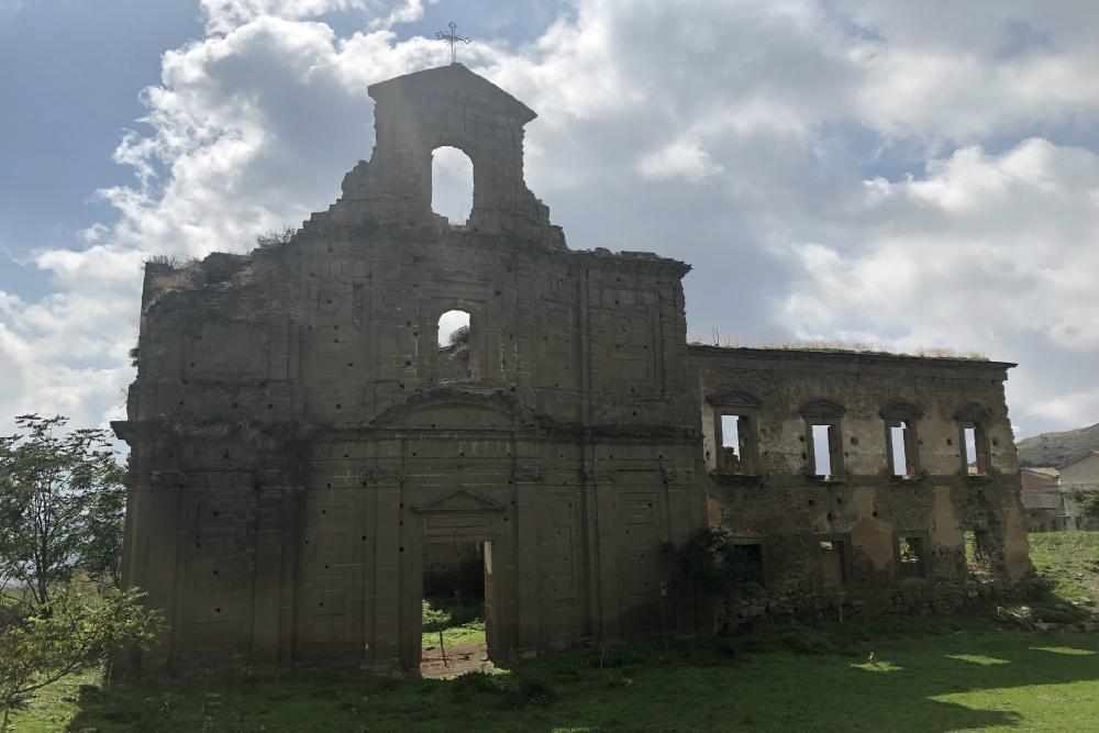 Bombed Monastery Troina