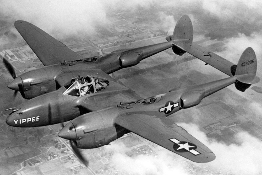 Crashlocatie P-38J-10-LO Lightning # 42-67802 Code J