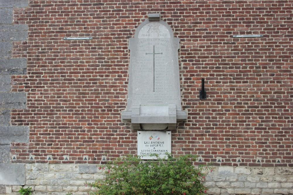 Gedenkplaat Tweede Wereldoorlog Chastre