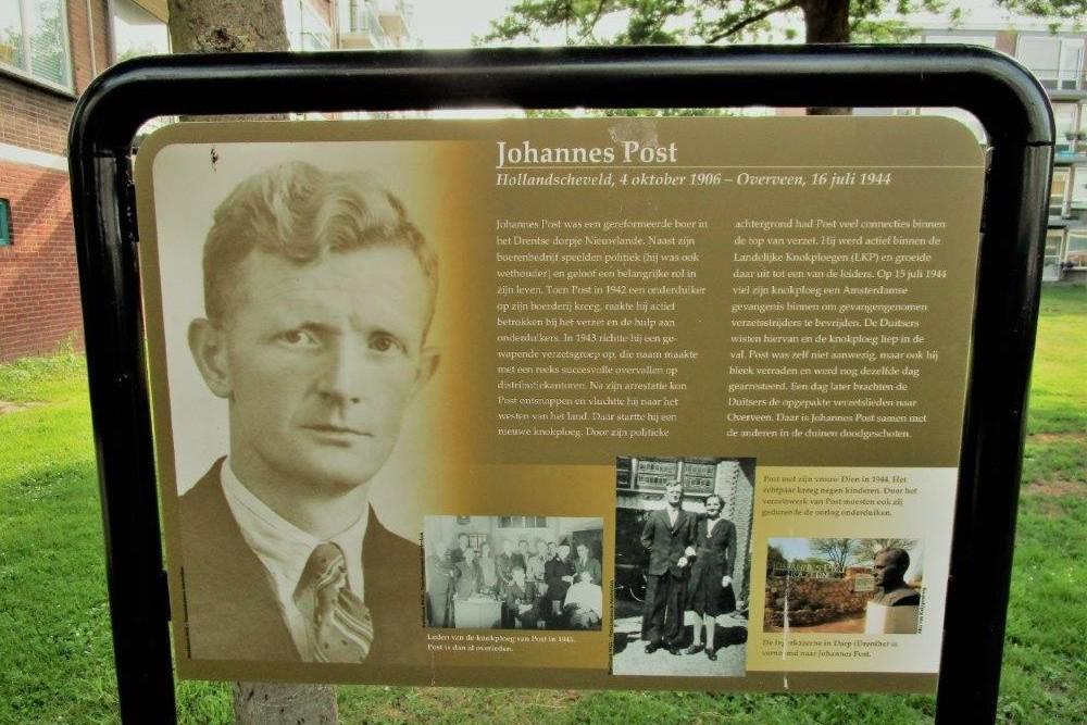 Informatiepaneel Verzetsheld Johannes Post