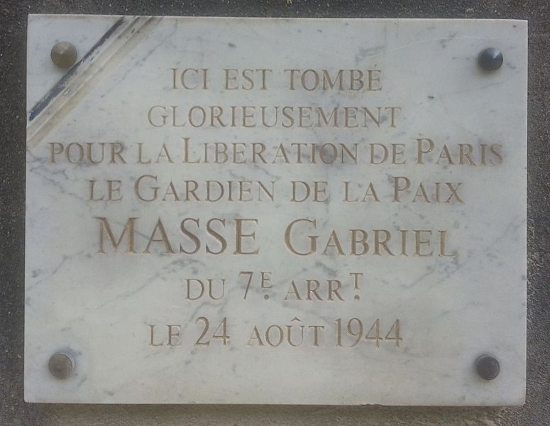 Plaque Gabriel Masse