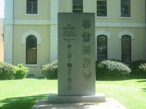 Monument Veteranen Bastrop County