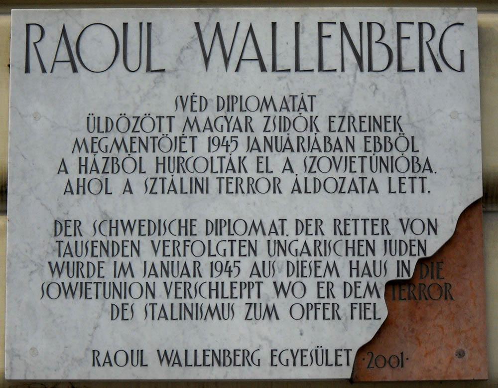 Plaque Raoul Wallenberg