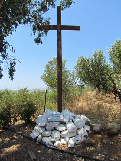 Cross of Remembrance to the Fallen on 'Hill 107' Maleme