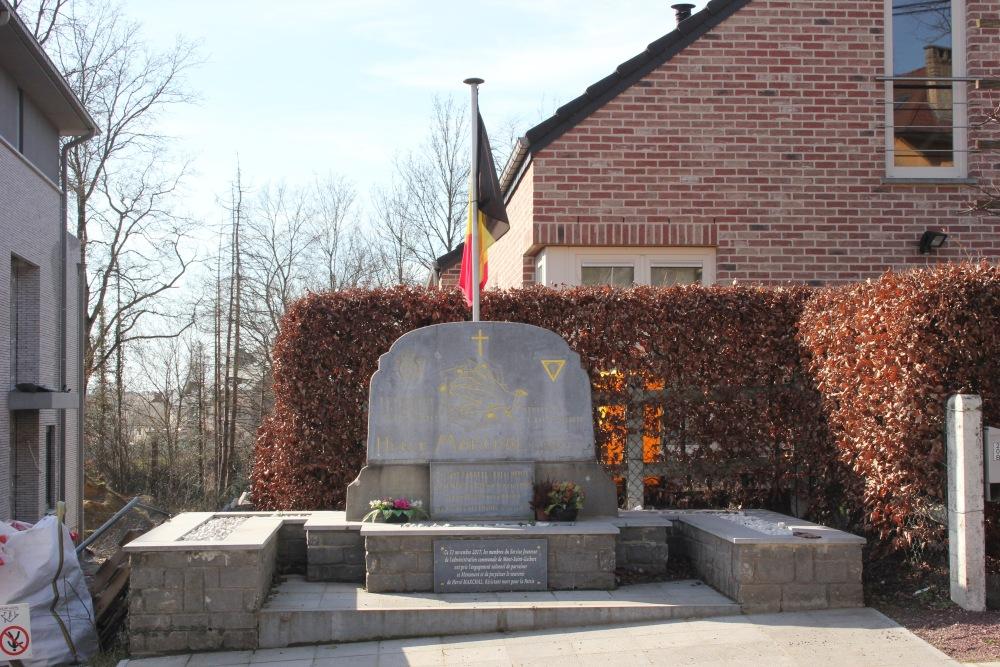 Memorial Executed Resistance Fighter Mont-Saint-Guibert