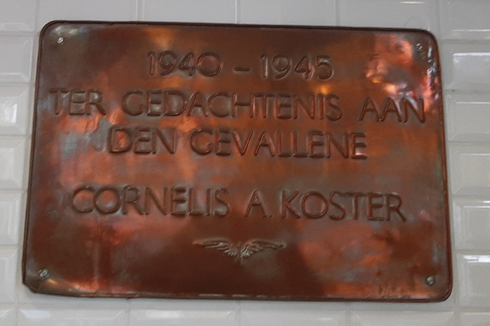 Plaquette Omgekomen NS-medewerker Gouda