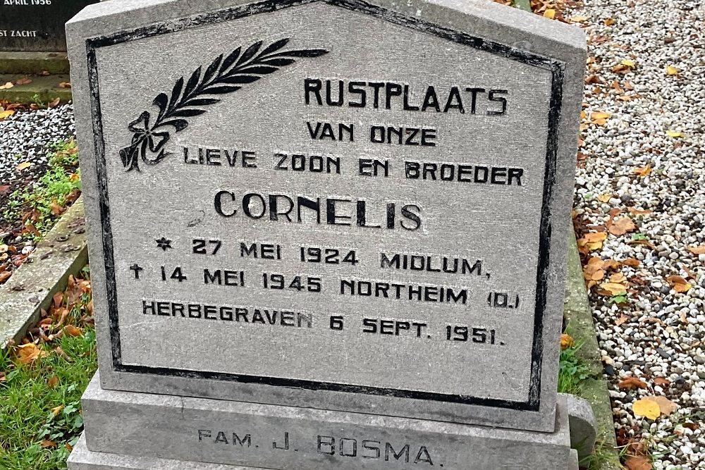 Dutch War Grave Dutch Reformed Cemetery Wirdum