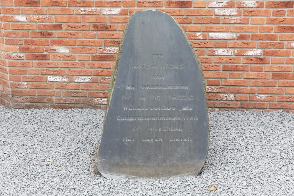 Memorial Victims Bombardments Nijverdal