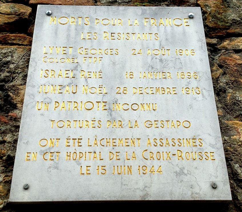 Plaquette Georges Lyvet