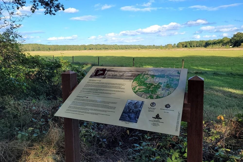 Commemorative plate Crash Site British Glider WACO