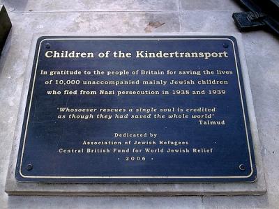 Plaque Saved Jewish Children