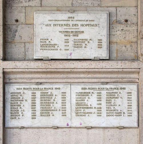 Monument Omgekomen Medewerkers WO2 Hôtel-Dieu