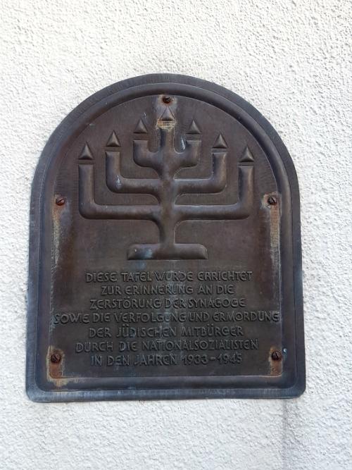 Memorial Plaque Synagogue Korschenbroich-Glehn