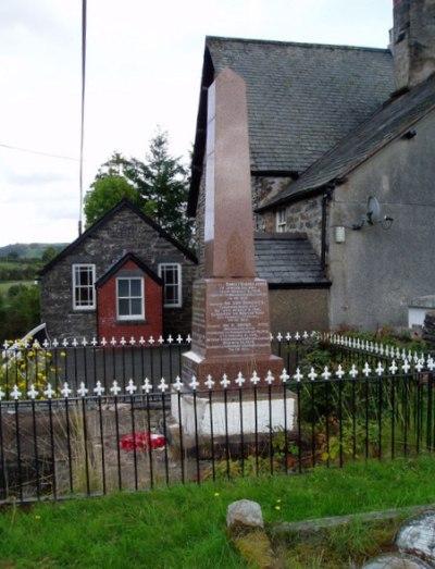 War Memorial Bettws Gwerfil Goch