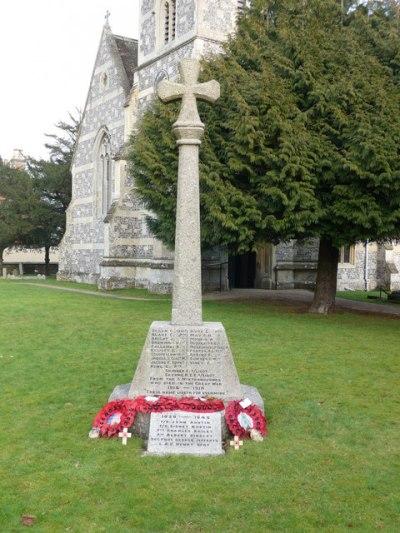 War Memorial Winterbourne Earls