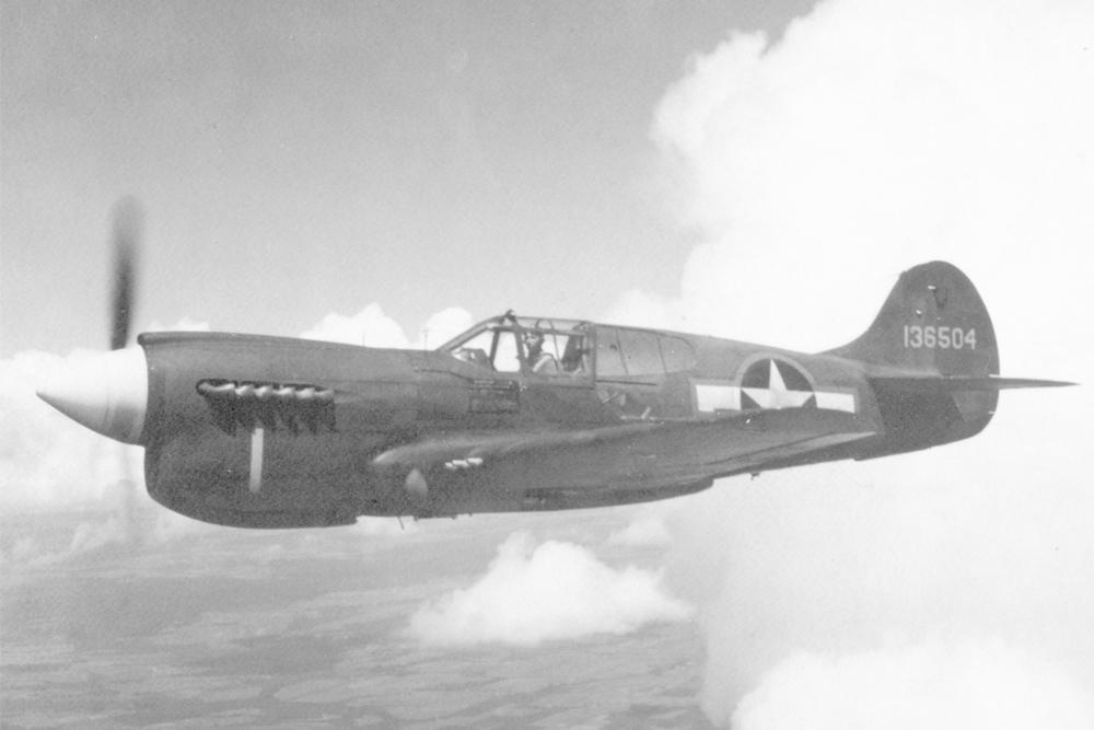 Crashlocatie & Restant P-40E Kittyhawk
