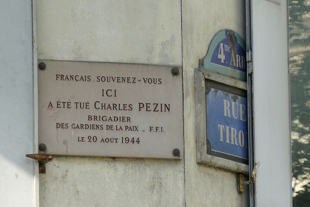 Plaquette Charles Pezin Paris 4e Tracesofwarnl