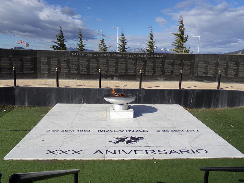 Falkland-monument Ushuaia