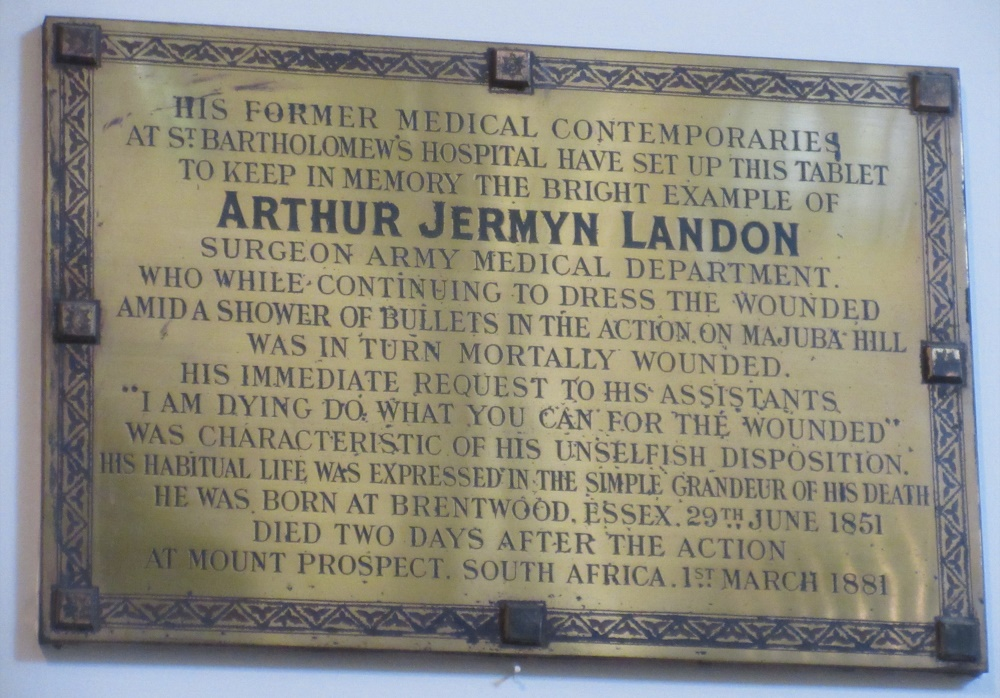 Plaque Surgeon Arthur Jermyn Landon