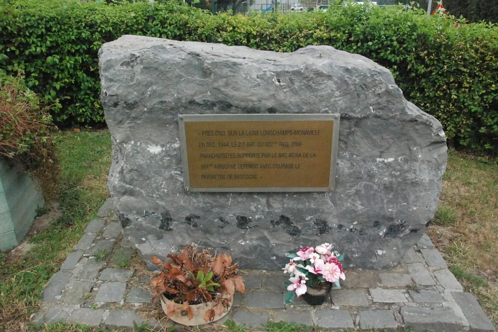 Commemorative Stone 502nd PIR
