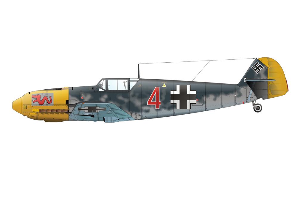 Crashlocatie Messerschmitt Bf 109E
