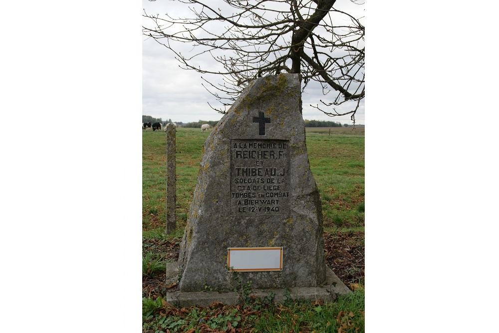 Monument Omgekomen Soldaten  Bierwart