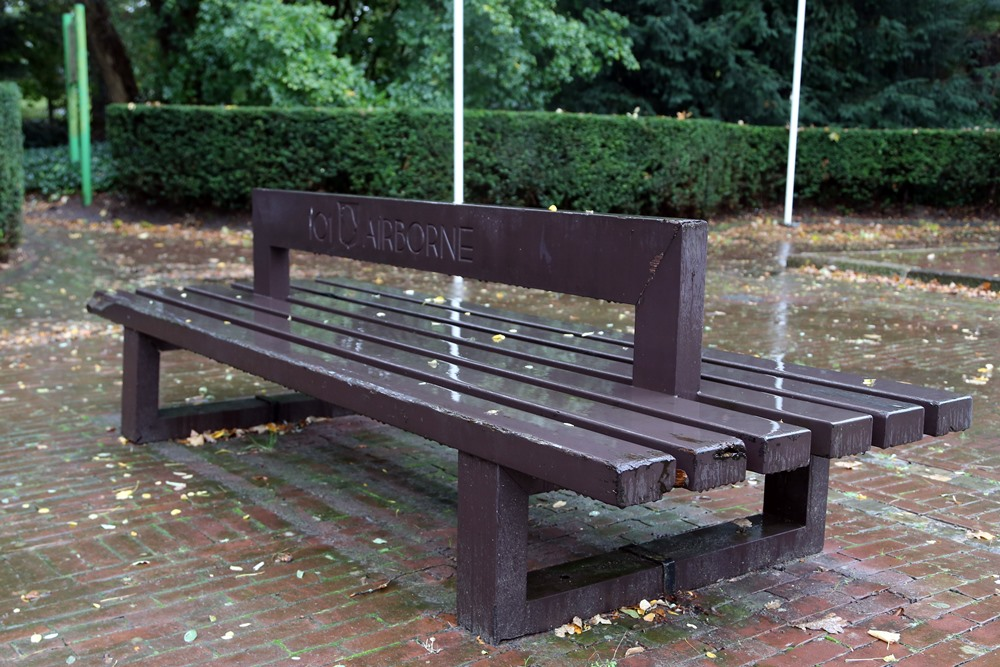 Bench to the Memory of 101st Airborne Division Son