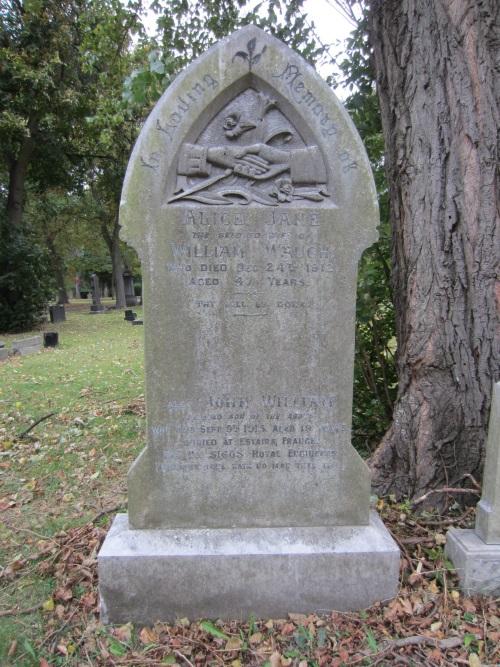 Herdenkingsteksten Normanby and Eston Cemetery