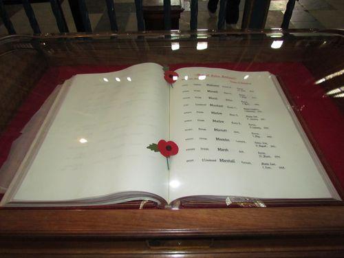 Registers Victims Second World War York Minster