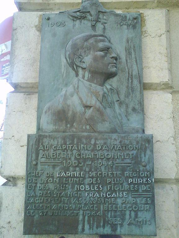 Plaquette Albert Chambonnet