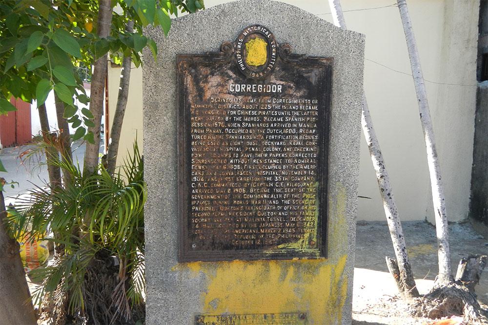 Corregidor Historical Marker