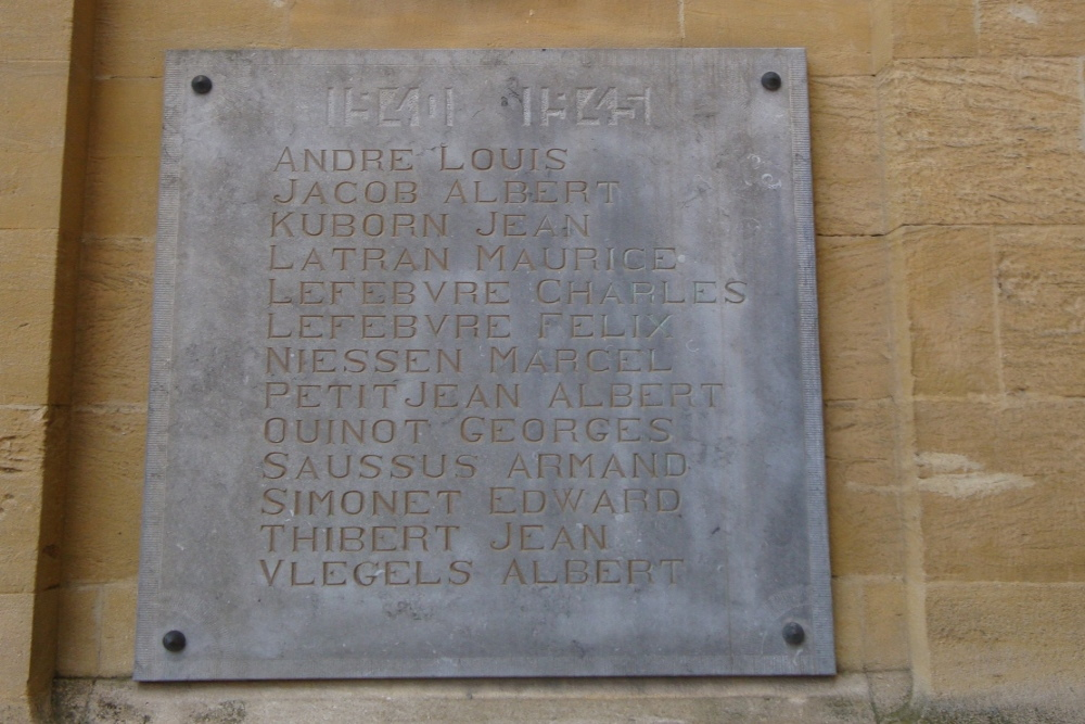 Plaques War Victims Virton