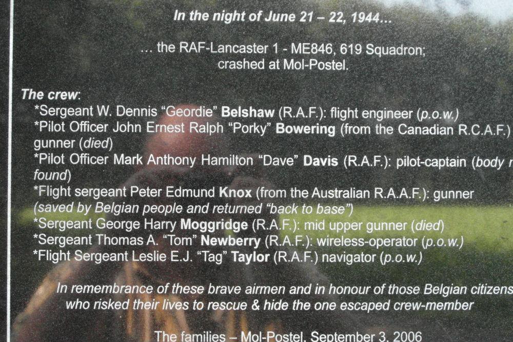 Memorial Crashed Lancaster