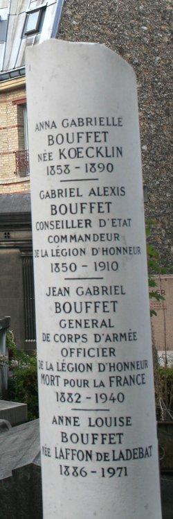 Grave of Jean Gabriel Bouffet