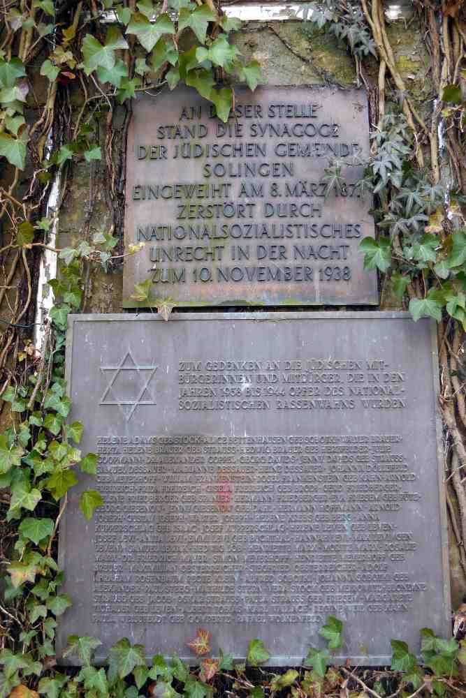 Plaque Former Synagogue