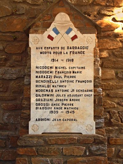War Memorial Barbaggio