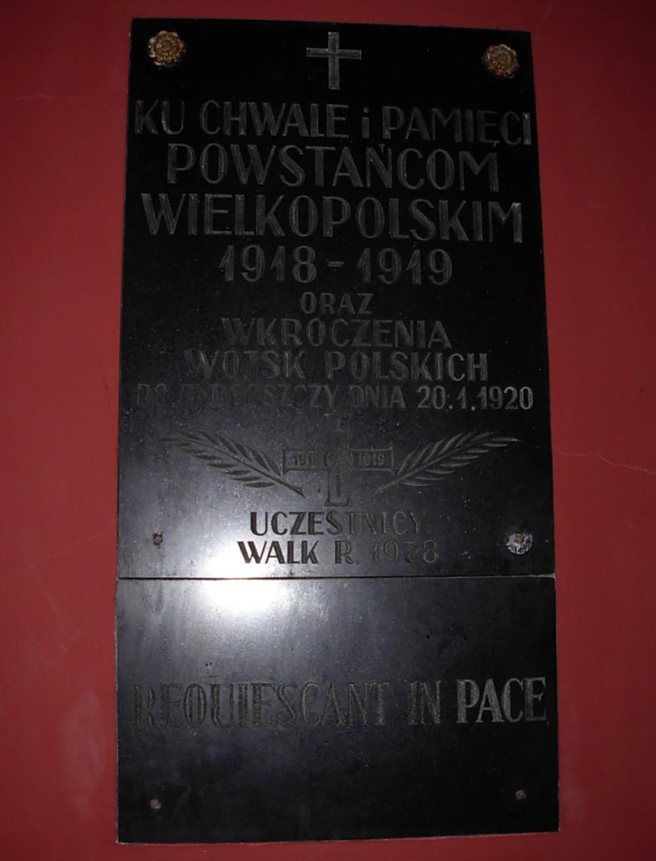 Plaque Wielkopolska Uprising