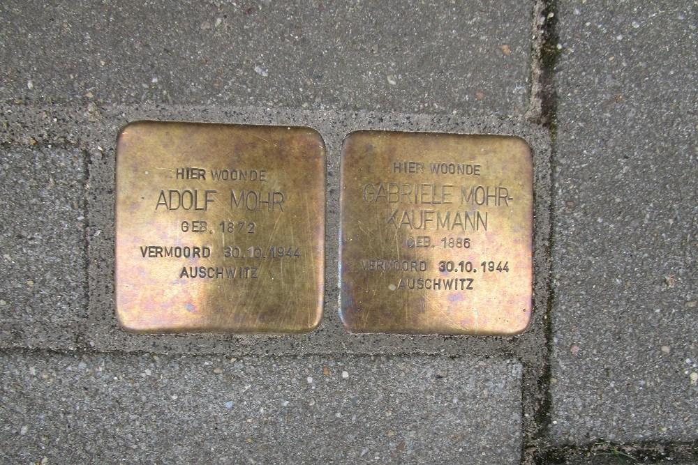 Herdenkingsstenen Kasterenwal 151 (voorheen Tweede Kasterenstraat 1)