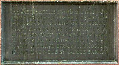 Memorial Höchst Synagogue
