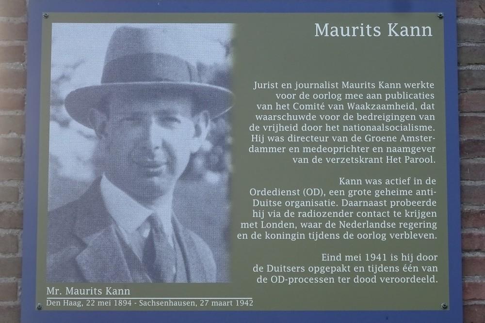 Memorial Plates Slotermeer Maurits Kannstraat