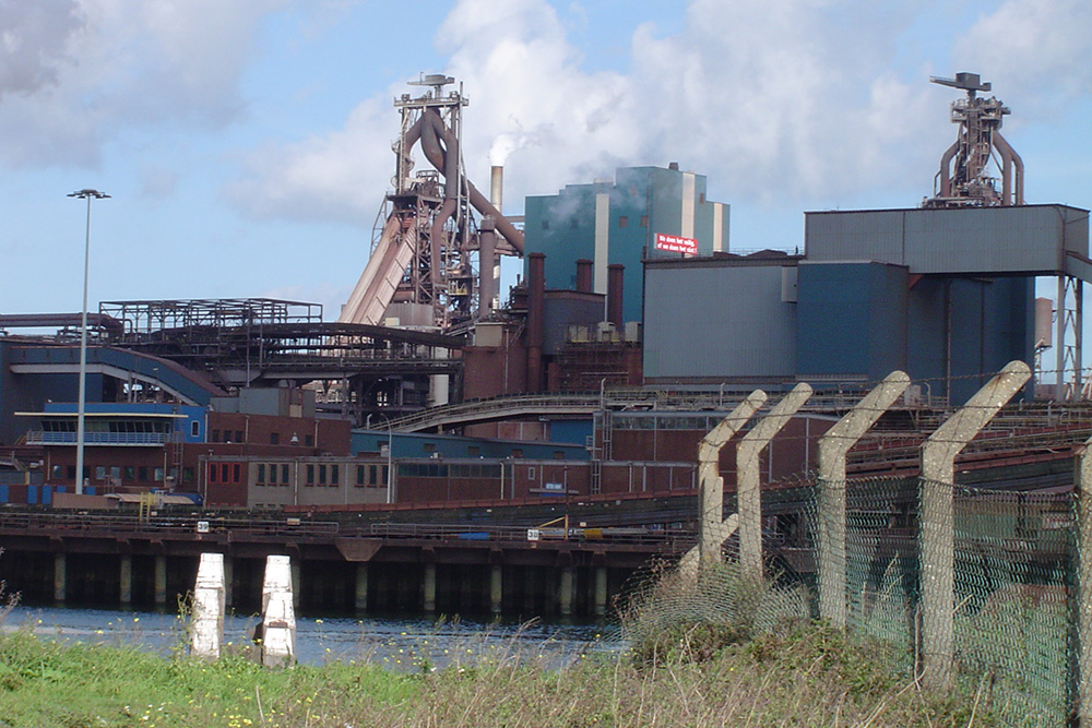 Former Royal Blast Furnaces (Tata Steel) and monument