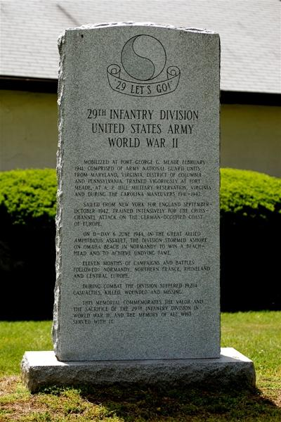 Monument 29th Infantry Division