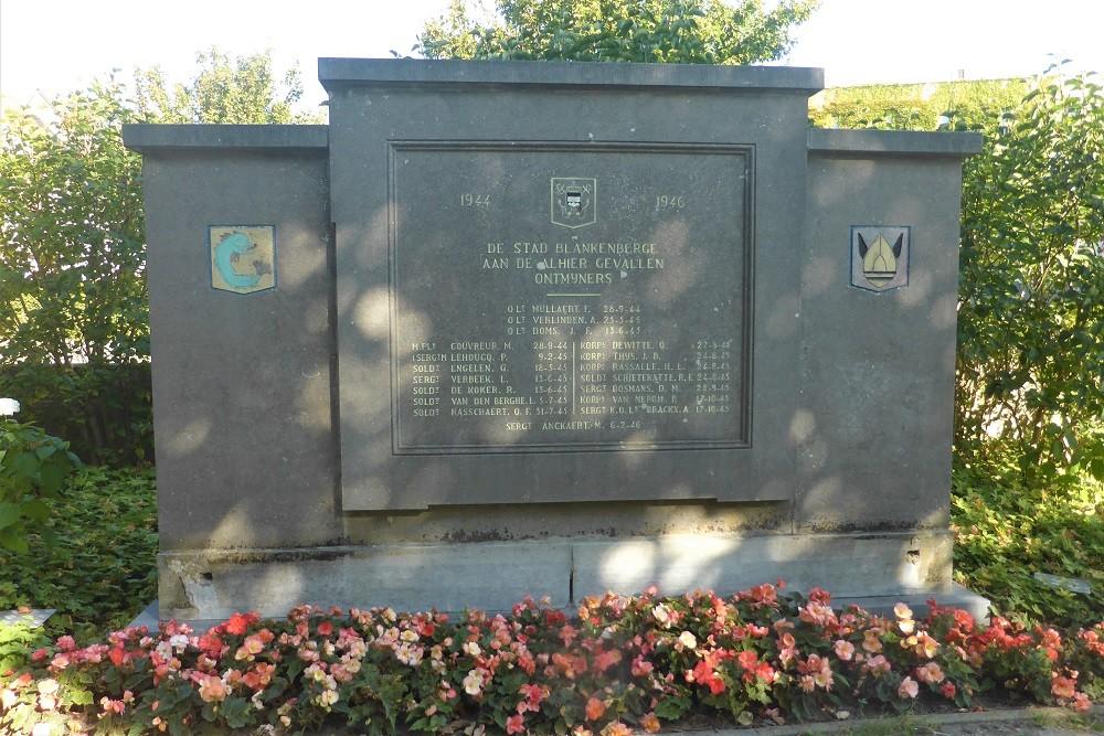 Monument Omgekomen Ontmijners Blankenberge
