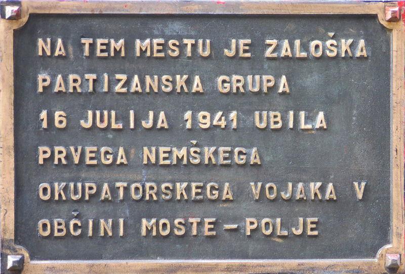 Memorial First Killed German
